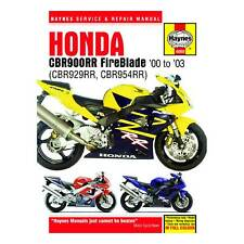 Haynes Workshop Manual / Guide Book For Honda CBR929RR And CBR954RR Fireblade