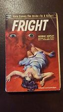 "George Hopley (Woolrich), ""Fright,"" 1952, Popular Library 424, VG-, 1st"