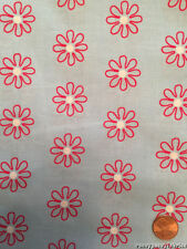 Flower Confetti Daisies Allover Red, White and Blue Cotton Fabric by the Yard