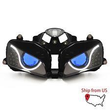 KT for Honda CBR600RR 2003-2006 LED Halo Eye LED HID Headlight Assembly Blue Kit