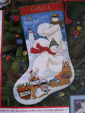 Dimensions Christmas Needlepoint Stocking Craft Kit,MAKIN' NEW FRIENDS,9122,16""