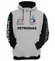 Mercedes AMG Petronas Herren Sweatshir  lange Ärme Grau Gr. S - 3XL