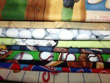 SPORTS baseball golf football basketball Cotton FABRIC U-Pick  HALF YARD 1/2 yd