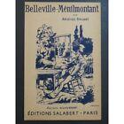 Belleville-Ménilmontant Aristide Bruant Chant partition sheet music score