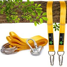 Benicci Tree Swing Straps Hanging Kit (Set Of 2) - 10Ft Long With Two Zinc Alloy