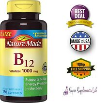 VITAMIN B12 1000 mcg 150 Softgel Capsules Fast Dissolve Nervous System Health