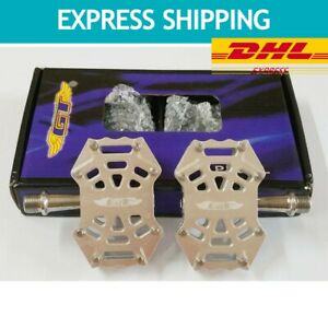 Vintage Pedals GT BMX Bicycle Alloy 9/16 SILVER Flat-Platform OLD STOCK EXPRESS