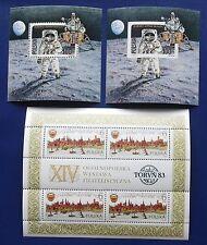 Poland - 1983-1989  3 MNH Bloks Torun & Moon Landing Anniversary - MNH