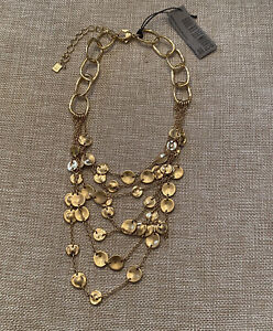Nwt Robert Lee Morris Holdtone Layered Necklace Retail $85