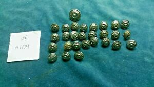 28 x Vintage British RAILWAYS Uniform buttons Mixed sizes  #A109