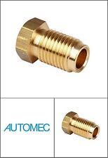 "AUTOMEC Brake Pipe Brass Union Fittings Male 7/16"" UNF x 20tpi for 3/16 Pipe"
