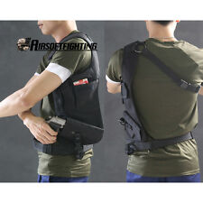 Tactical Anti-Theft Left Hand Gun Pistol Hidden Underarm Shoulder Bag Holster BK