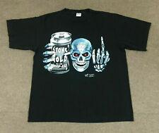 Vintage Rare Wwf 100% Stone Cold Whoop Ass Steve Austin T shirt Gildan Size Usa