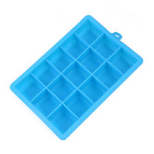 15 Grids Silicone Ice Cube Tray Large Mould Mold Giant Maker 3x3x3Cm Square