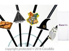 Coco&Bo 10 x Hogwarts School Party Straws Harry Potter Theme Table Decorations
