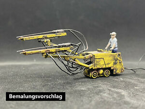 Bohrwagen SBKNS2 Wismut Bergbau Bergwerk Gleisbohrwagen H0f unbemalter Bausatz