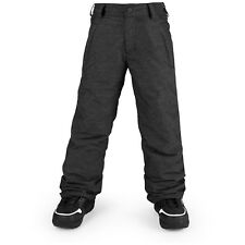 2018 NWT BOYS VOLCOM EXPLORER INSULATED SNOWBOARD PANTS $100 12Y black zip tech