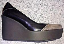 Gaja Bardelli Milano Platform Wedge High Heel Full Toe Court Shoes- UK 5.5/EU 38