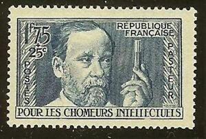 "FRANCE STAMP TIMBRE YVERT N° 385 "" LOUIS PASTEUR 1F75 + 25c BLEU "" NEUF xx LUXE"