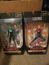 Marvel Legends Captain Marvel Binary Form and STARFORCE  EndGame lot of 2.