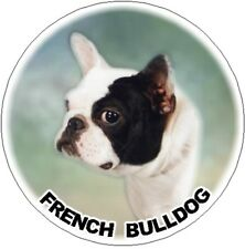 2 French Bulldog Round Car Stickers By Starprint