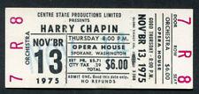 1975 Harry Chapin unused full concert ticket Spokane WA Cat's In The Cradle
