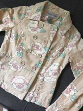 Warehouse Women's Flower Print Pea Coat Jacket UK8-10 Small
