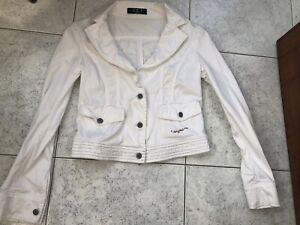 Giacca  Giubbino Iceberg Jeans Bianco  donna Taglia  46 L
