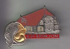 RARE PINS PIN'S .. POMPIER FIRE CASQUE HALLES XV EME  S.P ARPAJON BIG 3D 91 ~C3