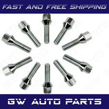 10 PCs BMW Chrome M12x1.5 Lug Bolts 24mm Shank Conical Seat Wheel Lug Bolts
