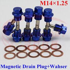 M14X1.25 ENGINE MAGNETIC OIL PAN DRAIN PLUG BOLTS CRUSH WASHER M14 BOLT KIT BL10