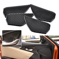 4x Carbon Fiber Interior Door Handle Bowl Cover Trim Decor For Honda Civic 2016