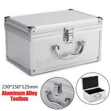 Portable Aluminum Tool Box Storage Sponge Handheld Case Organizer Container