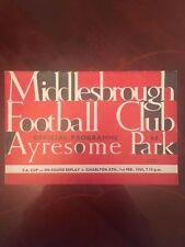 Middlebrough v Charlton Athletic programme 1964/65