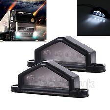 2 X 4 LED License Plate Tag Light Car Truck Trailer Step Lamp 12V 24V Universial