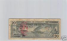 NOUVELLES-HEBRIDES NOUMEA 20 FRANCS TYPE 1944 PICK 7 RARE !!!!