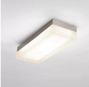 """WAC Lighting 14"""" Rectangular LED Warm White Flush Mount One Size Brushed Nickel"""
