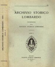 ARCHIVIO STORICO LOMBARDO anno C