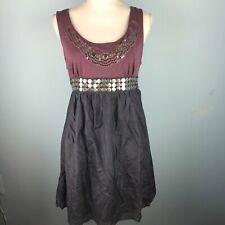 Xhilaration Size XL Dress Purple Gray Embellished Tie Back