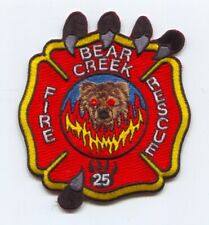 Bear Creek Fire Rescue Department Patch South Carolina SC v2