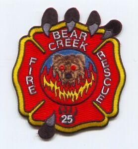 Bear Creek Fire Rescue Department Patch South Carolina SC v2