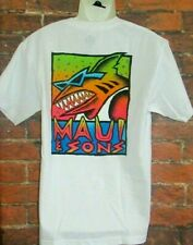 MENS MAUI AND SONS SHARK WHITE T-SHIRT SIZE M