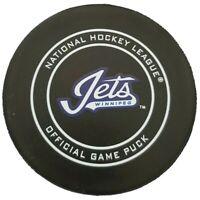 WINNIPEG JETS NHL OFFICIAL GAME PUCK GARY B. BETTMAN INGLASCO 🇨🇦 GEM