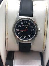 Wenger 041100 Unisex Black Silicone Analog Black Dial Quartz Wrist Watch ZT100