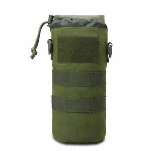 1000D Tactical Water Bottle Pouch Foldable Molle Kettle Holder Bag Backpack