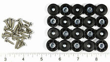 20 SMALL ROUND RUBBER FEET w/ SCREWS   1/2 W x 1/4 H   - MADE IN USA - FREE S&H