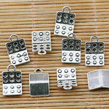 20pcs Tibetan silver pill case charms EF1373