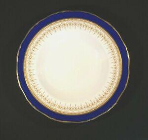 Beautiful Royal Worcester Regency Blue Large Rimmed Soup Bowl