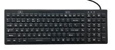 Spanish Layout Backlit Industrial Silicone Full Size Keyboard IKB106BL-S