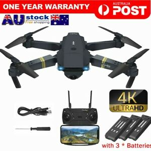 2.4G 4K GPS Drone with HD Camera Drones WiFi FPV Foldable RC Quadcopter+3Battery